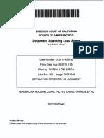 Tenderloin Housing Clinic v Orvelton Neal Settlement Stipulation 2015