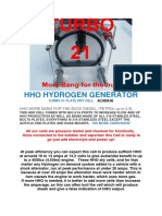 Hho Dry Cell 21plates Info