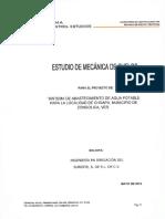ESTUDIO GEOTÉCNICO LINEA DE CONDUCCION DE AGUA POTABLE