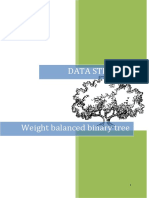 Weight Balanced Binary Tree