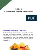 Conservación Por Deshidratacion