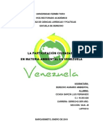 La Participaciòn Ciudadana en Venezuela