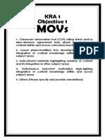 Kra 1- Objective 1 MOV