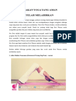 7 Gerakan Yoga Yang Aman Setelah Melahirkan