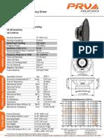 PRV Audio 15W700 Datasheet 1