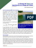 La Dureza Del Agua y Su Importancia en El Riego Por Goteo