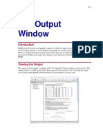 The Output Window