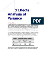 Fixed Effects Analysis of Variance