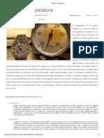 Tiempo y Temperatura Levas y Bacterias