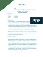 Ficha Tecnica Mantenimiento Periodico Carretera Chuquibamaba - Ratha