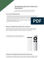 Enlazar El AppleRemote (Aluminio o Blanco) Al AppleTV o Desenlazarlo