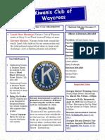 Kiwanis Club of Waycross Newsletter March/April 2019