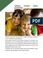 Peran Pendidikan Karakter Dalam Melengkapi Kepribadian