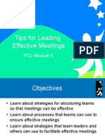 Module 5 Tips for Leading Effective Meetings