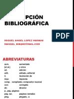 ABREVIATURAS - BIBLIOTECARIOS