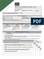 Ficha de evaluacion al desempeño docente