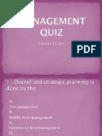 Management Quiz Ppt