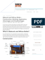 Babcock and Wilcox Boiler – Construction, Working, Application, Advantages and Disadvantages - Mechanical Booster