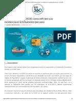 El Plan BEPS de La OCDE Como Soft Law y Su Incidencia en La Tributación Peruana - IUS 360