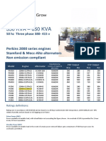 400 KVA Data Sheet