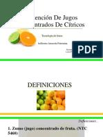 OBTENCIÓN DE JUGOS CONCENTRADOS