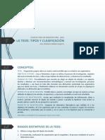 01_La Tesis-tipos y Clasificación