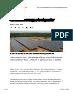 Renewable Energy, A Land Guzzler - Business Line1