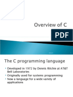 C program overview