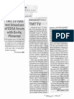 Manila Times, Feb. 26, 2019, TMT TV runs test broadcast of EDSA forum with Enrile, Pimentel.pdf