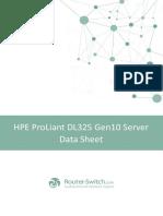 Hpe Proliant DL325 Gen10 Server Datasheet