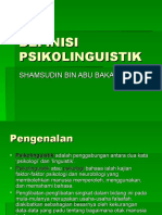DEFINISI PSIKOLINGUISTIK(M3)