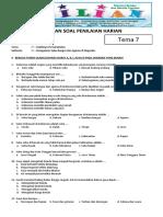 Soal Tematik Kelas 4 SD Tema 7 Subtema 1 Keragaman Suku Bangsa Dan Agama Di Negeriku - Www.bimbelbrilian.com