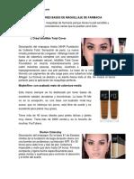 Las Mejores Bases de Maquillaje de Farmacia y  profesionales