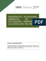 Diagnostico Situacional de Las Act. Mineras Cuenca Rio Abujao