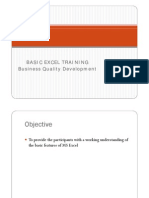 Basic Excel Training Module