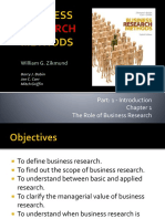 Chapter 1 the Role of Business Research