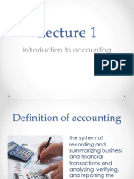 1- Lecture 1 Introduction to Accounting