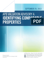 Valuation Advisory 4 Identifying Comparable Properties Upated Final 09262013
