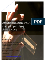 Catalytic Reduction of CO2 Into Hydrogen Using Micro Reactors