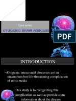 case series otogenic brain abcess