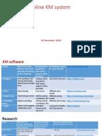 Online KM System