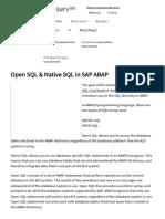 Open SQL and Native SQL in SAP ABAP.pdf