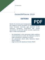 Bando EstateINPSieme 2019 Soggiorni Studio ESTERO (1)