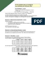 Concours MSF - Eléments de solutions pour un corrigé de l'épreuve définitive du 10 février 2015