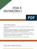 Conceitos e definições farmacêuticas