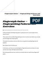 Fingerstyle Guitar - Fingerpicking Patterns and Exercises