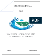 company proposal for Lawn care and janitorial service