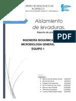 Reporte - Identificación de Levaduras