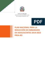 PLAN NACIONAL PARA LA REDUCCIÓN DE EMBARAZOS EN ADOLESCENTES 2019-2023 PREA-RD