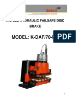 Operation & Maintenance Manual of Disc Brake